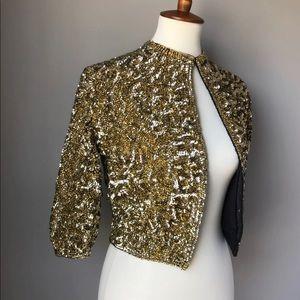 Vintage Casmira Sequenced Jacket Gold S